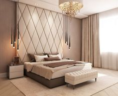 Olga PUSTOVALOVA Luxury, timeless and classic bedroom. - Home Design Inspiration Luxury Bedroom Design, Master Bedroom Design, Luxury Decor, Home Decor Bedroom, Bedroom Ideas, Bedroom Furniture, Master Suite, Furniture Layout, Master Bedrooms