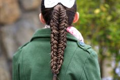 Twisted Edge Fishtail Combo  #fishtail #braid #cutegirlshairstyles #hairstyles #ponytail