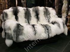1103 Arctic Marble Fox Fur Blanket Real Fur Throw | eBay