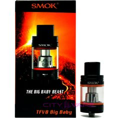 Big Baby is the enlarged version based on Baby, both its e-juice capacity and more vapors will let you enjoy pleasant vaping time. Big Baby, How Big Is Baby, Vape, Beast, Perfume Bottles, Hardware, Computer Hardware, Vaping, Perfume Bottle