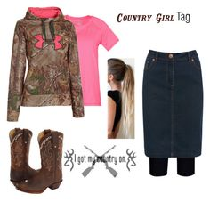 """""""Country Girl Tag!"""" by shellynelly ❤ liked on Polyvore featuring City Chic, Under Armour, Tony Lama, M&Co and country"""