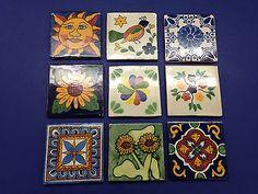 9 Vintage Clay Tiles Mosaic Terra Cotta Pottery Bird Blue Sunflower Cobalt Willo Clay Tiles, Mosaic Tiles, Terra Cotta, Cobalt, Pottery, Bird, Holiday Decor, Vintage, Ebay