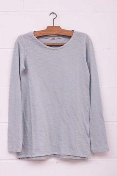 Camiseta básica, Camiseta básica, Camiseta azul, blue shirt, long sleeve, manga larga, algodón, System Action, shop online, lookbook, model, street Style, SS2015,