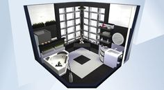 Sieh dir dieses Zimmer in der Die Sims 4-Galerie an! - Updated version of my original Black 'n White Bathroom from 2015 :) #MOO#nocc#ccfree#black#white#blackandwhite#bathroom#schwarz#weiß#schwarzweiß#bad#badezimmer#minimalist#modern#playtested