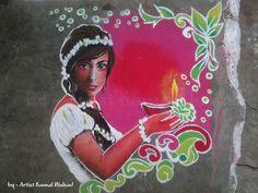 Rangoli 2011 (Hand made) - for Diwali festival by Kamal Nishad, via Behance