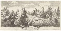 Anonymous | Zeeslag bij Beachy Head, 1690, Anonymous, 1690 | Zeeslag bij Beachy Head (bij Béveziers) waarbij een gecombineerd Engelse en Nederlandse vloot verslagen werd door de Fransen, 10 juli 1690.