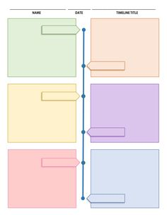 Printable Timeline Template perfect for homeschool and classroom use. We use it for our Mystery of History timeline notebook. Study Planner, Planner Pages, Mind Map Design, Mind Map Art, Mind Map Template, Powerpoint Background Design, Renz, History Timeline, Good Notes