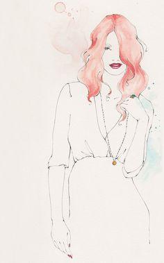 Emma Leonard pretty illustration #fashion