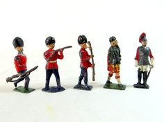 Vintage Lead Figures 5 Hollowcast Toy Soldiers by keepsies on Etsy