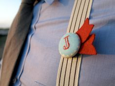 Personalized Button Boutonniere by Betawife