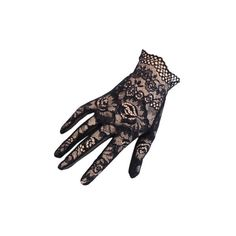 Short Black Fine Lace Gloves ($28) ❤ liked on Polyvore featuring accessories, gloves, luva, lace gloves, party gloves, short lace gloves, short gloves and stretch gloves