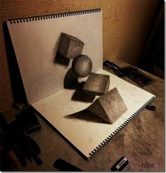 cool awesome amazing 3D three dimensional pencil drawings (11)