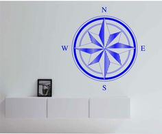 Compass Retro Vinyl Wall Decal Sticker Art Decor Bedroom Design Mural interior design by StateOfTheWall on Etsy https://www.etsy.com/listing/222214388/compass-retro-vinyl-wall-decal-sticker