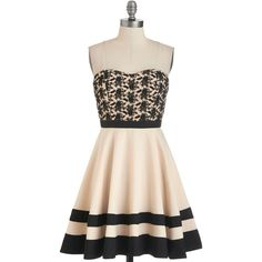 ModCloth Short Length Strapless A-line Glam of the Hour Dress ($100) found on Polyvore