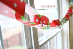 DIY - That's A Wrap Garland @ Caught On A Whim Blog