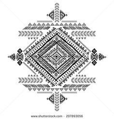 Tribal vintage ethnic background for your business - stock vector