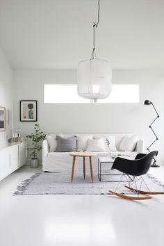 Scandinavian style living room of Elisabeth Heier