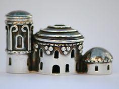 Handmade Silver House Brooch