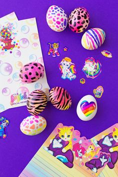 Channel your inner 90s kid and make Lisa Frank easter eggs with shaving cream, food dye and markers! Perfect for your next Girl's Night.