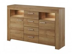 Obývacia stena SKY | mojnabytok.sk Filing Cabinet, Lockers, Locker Storage, Dresser, Furniture, Home Decor, Products, Simple Lines, Drawer