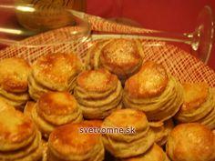 Obľúbené krehké pagáčiky s mletými oškvarkami, vhodné nie len na silvestrovský stôl. Pretzel Bites, Muffin, Bread, Cooking, Breakfast, Food, Basket, Hungarian Recipes, Kitchen