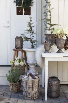Winter Porch, Winter Garden, Outdoor Balcony, Balcony Garden, Advent, Xmas, Christmas, Porch Decorating, Decoration