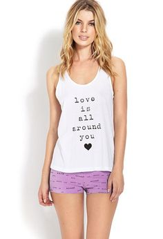 Love is All Around You PJ Set | FOREVER 21 - 2000070358