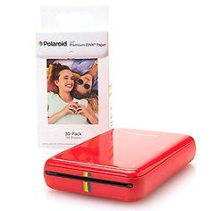 Polaroid ZIP Mobile Bluetooth Photo Printer w/ 40-Piece Photo Paper