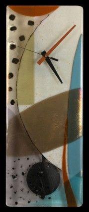 """Ascension"" Art Glass Clock"