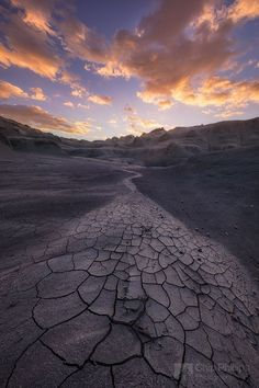 landscape | Cracked Mud and Fossils-Desert Sunrise | by phillips_chip | http://500px.com/photo/182031081