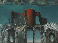 """dark-archive: """"Dorothea Tanning The Witch Signed Dorothea Tanning (lower right) Oil on canvas 18 by 24 in. Painted in 1950 """" Rene Magritte, Dorothea Tanning, Witch Signs, Max Ernst, Virtual Art, Unusual Art, Art Academy, Joan Miro, Surreal Art"""