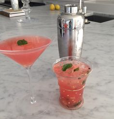Womanista Food + Drink: Watermelon & Cucumber Martini