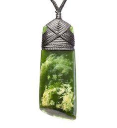Maori necklace - Toki blade : Mountain Jade