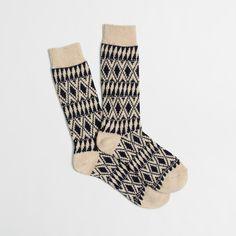 Factory festive socks : patterned | J.Crew Factory