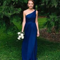 Side-Ruched One-Shoulder Bridesmaid Dress - Davids Bridal