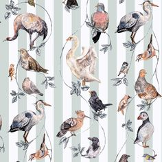 Originally hand-painted onto wood, Flights of Fancy is a unique work of art featuring a symphony of British birds. Swans, jays, blackbirds, grouse, wr...