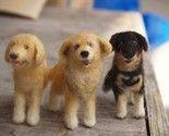 Custom dog portraits, fiber sculptures... so cute!