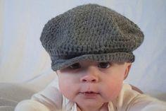 Newsboy Brim Crochet Baby hat Crochet by SillySeaTurtle on Etsy