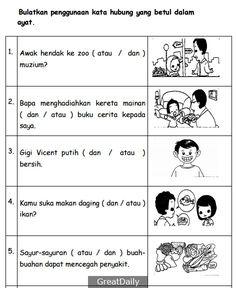 Preschool Learning Activities, Preschool Worksheets, Malay Language, Reading Practice, 1st Grade Worksheets, Grammar And Vocabulary, Study Materials, Kids Education, Phonics