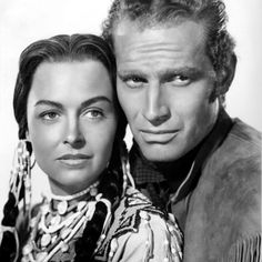 THE FAR HORIZONS - Charlton Heston & Donna Reed - Directed by Rudolph Mate' - Paramount - Publicity Still.
