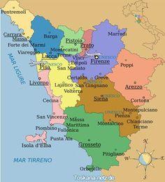 Overzichtsplaatje Toscane