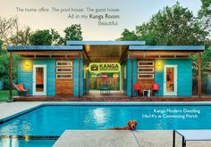 Kanga Room Systems Prefab Cabin Studio Shed Kits - Backyard Office-Guest House-Pool House-Art Studio-Garden Shed-Tiny House Modern and Tradtional Cottage prefab kits