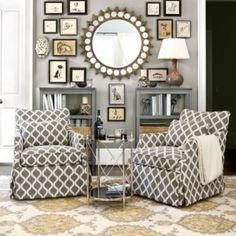 Love the chair pattern | Ballard Designs