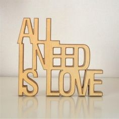 All you need is Love Frase Corpórea #love