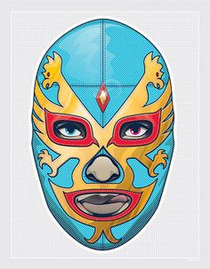 His and hers naughty luchador masks and more by Shingo Shimizu , who has various goods on sale at Zazzle and InPrint . Mask Design, Design Art, Graphic Design, Mexican Mask, Mexican Wrestler, Paper Mask, Art Academy, Collaborative Art, Mexican Style