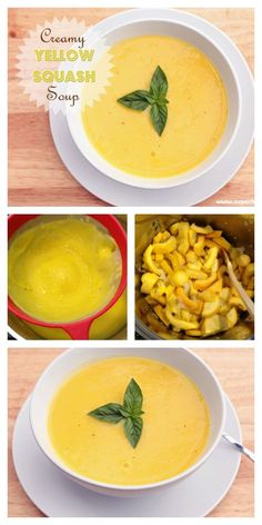 Creamy, full of flavor and super delicious! And the best part is you can make a huge batch and freeze it! (Soup Recipes For Crockpot) Summer Squash Soup, Yellow Squash Soup, Summer Squash Recipes, Freezing Yellow Squash, Baby Food Recipes, Soup Recipes, Cooking Recipes, Healthy Recipes, Healthy Kids
