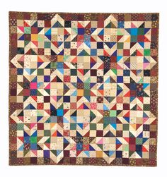 2 Piece Patchwork - Diamonds & Stars. Oh my stars! Scrappy patchwork stars in bright colors paired with neutrals and beige blocks. Find the Book Online: http://landauerpub.com/2-Piece-Patchwork.html