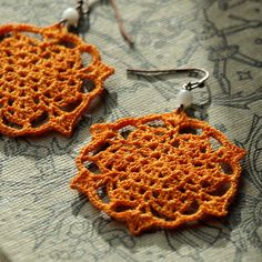 How lovely would these earrings be for an afternoon coffee date? $35.00 If I ever had an afternoon coffee date....