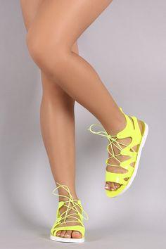 Jelly Caged Lace Up Gladiator Flat Sandal – Style Lavish