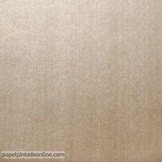 Papel Pintado Milan CO00133, papel liso dorado con rayas verticales metalizadas.